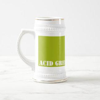 Acid green coffee mugs