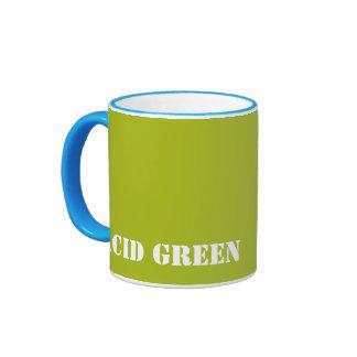 Acid green mug