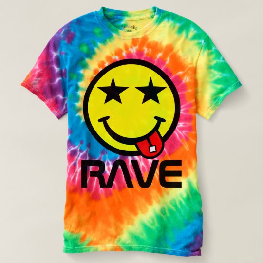 Acid Rave Smile Face Tie Dye T-Shirt