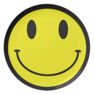 Acid Smiley Face Plate