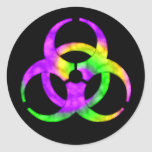 Acid Spiral Biohazard Symbol Sticker