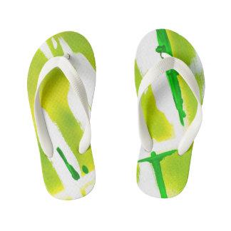 Acid Spring Colors Kid's Flip Flops