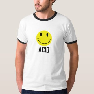 Acid Smiley Face Retro Ringer T-shirt
