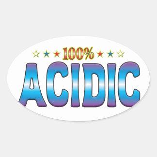 Acidic Star Tag v2 Oval Stickers
