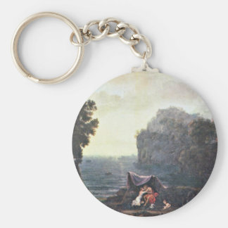 Acis And Galatea By Lorrain Claude Basic Round Button Key Ring