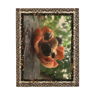 Ackee Fruit Family Wood Wall Art