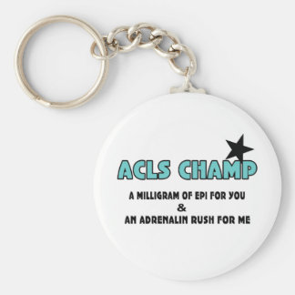 ACLS Champ Basic Round Button Key Ring