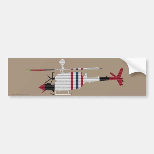 ACM Ribbon OH-58D Kiowa Warrior Bumper Sticker
