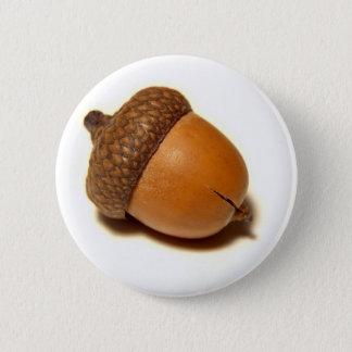 Acorn 6 Cm Round Badge