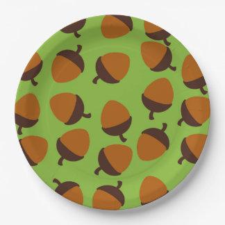 Acorn 9 Inch Paper Plate
