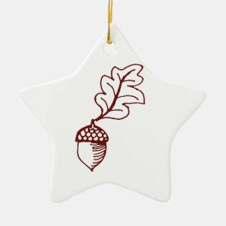 Acorn Ceramic Star Decoration