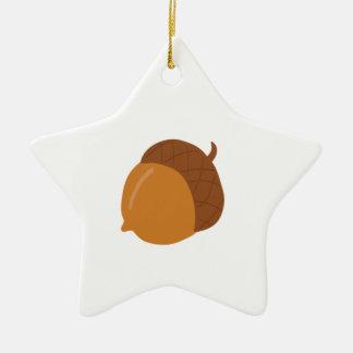 Acorn Ceramic Star Ornament