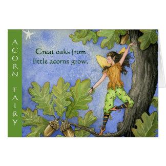 Acorn Fairy notecard Greeting Card