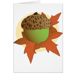 acorn greeting card