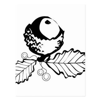 Acorn & Leaves Postcard