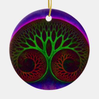 Acorn Round Ceramic Decoration
