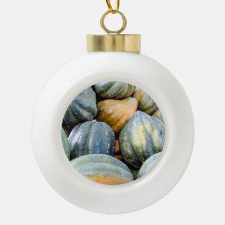 Acorn Squash Ceramic Ball Decoration