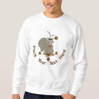 Acorn Squirrel Embroidered Sweatshirt