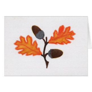Acorn Thanksgiving Card