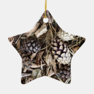 Acorn Tree Star Ceramic Star Decoration