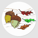 Acorns And Leaves Stickers