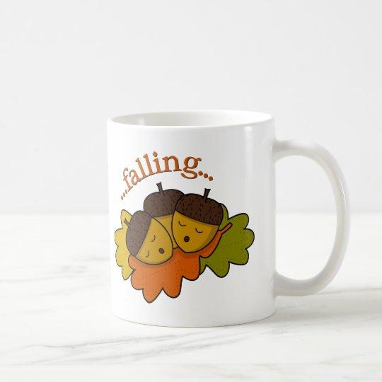 acorns falling (asleep) coffee mug