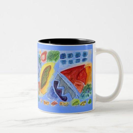 Acorns Garden Magic Two-Tone Coffee Mug