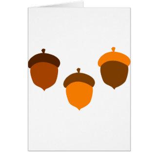 Acorns Greeting Card