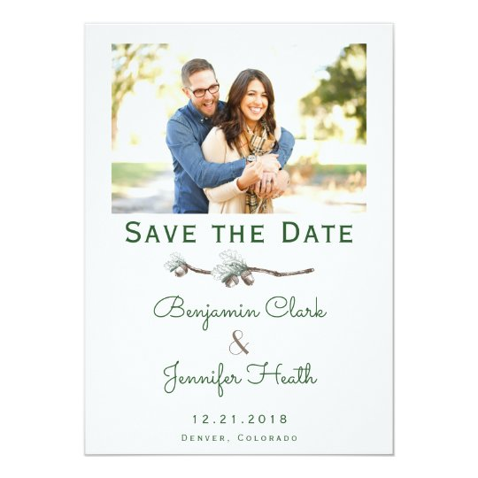 Acorns on Twigs Save the Date Card