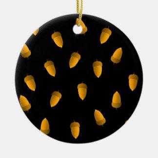Acorns Round Ceramic Decoration