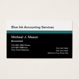 Acountant Services Businesscards Business Card