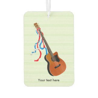 Acoustic Bass Guitar American Music Car Air Freshener
