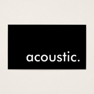 acoustic. business card