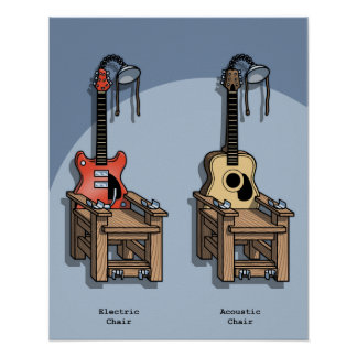 Acoustic Chair Poster