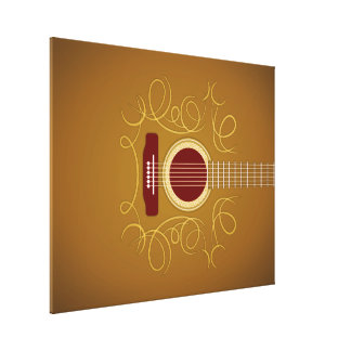 Acoustic Classic Guitar Gallery Wrap Canvas