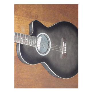 Acoustic Electric Guitar Postcards