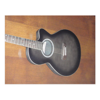 Acoustic Electric Guitar Post Card