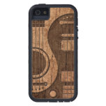 Acoustic Electric Guitars Yin Yang Wood Effect Case For The iPhone 5