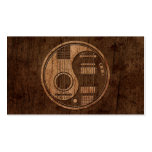 Acoustic Electric Guitars Yin Yang Wood Effect Pack Of Standard Business Cards
