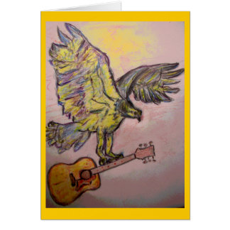 Acoustic Fish Hawk (best wishes) Card