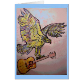 Acoustic Fish Hawk (best wishes) Greeting Card