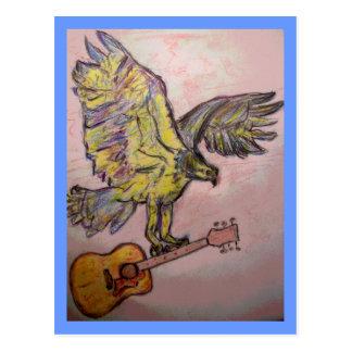 Acoustic Fish Hawk (best wishes) Postcard