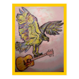 Acoustic Fish Hawk(fly high with acoustic jams) Postcard
