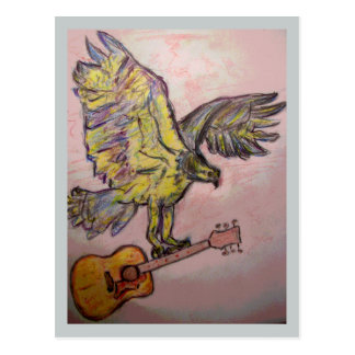 Acoustic Fish Hawk (music high) Post Cards