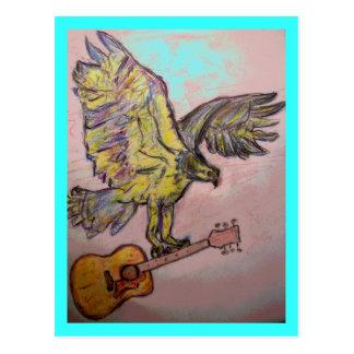 Acoustic Fish Hawk Postcard