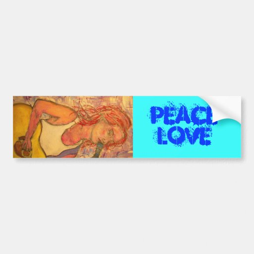 Acoustic Girl PeaceLove Bumper Stickers