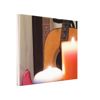 Acoustic Guitar 1 Gallery Wrapped Canvas
