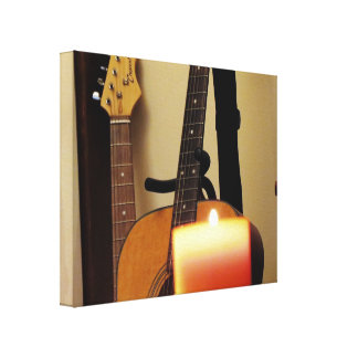 Acoustic Guitar 2 Stretched Canvas Print