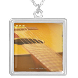 Acoustic Guitar 5 Silver Plated Necklace