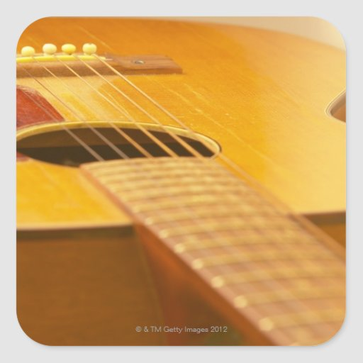 Acoustic Guitar 5 Square Sticker